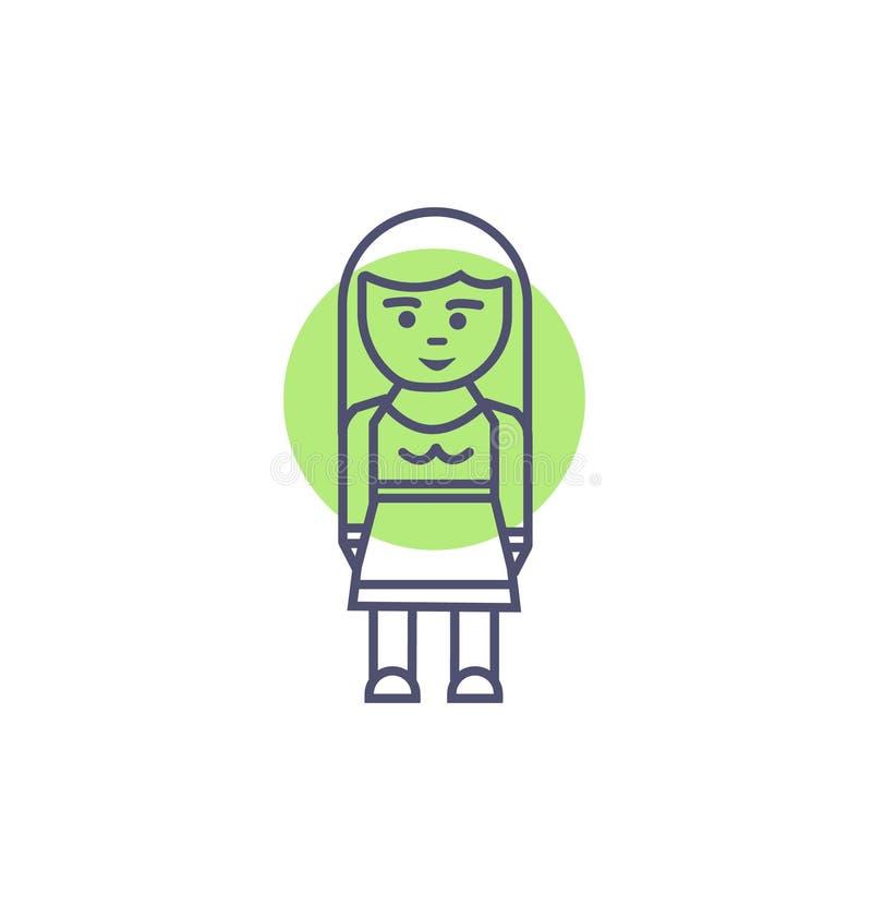 Знак и символ бизнесмена характера иконы бизнесмена милый иллюстрация вектора