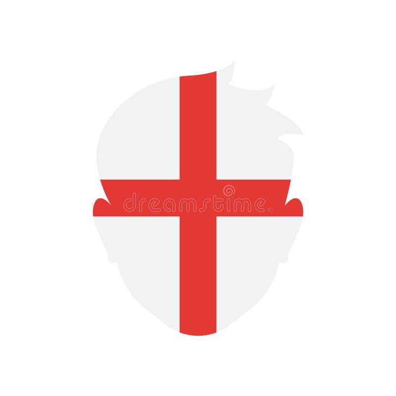 Знак и символ вектора значка Англии изолированные на белой предпосылке иллюстрация штока