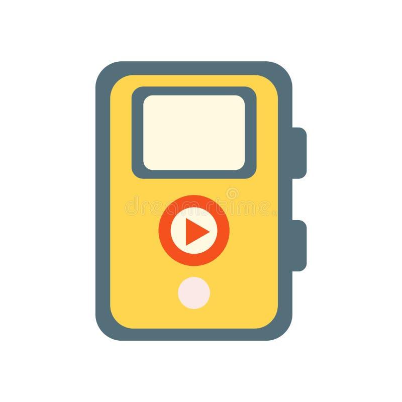 Знак и символ вектора значка аудиоплейера изолированные на белом backg бесплатная иллюстрация