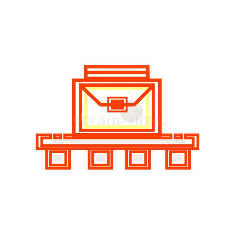Знак и символ вектора значка багажа изолированные на белой предпосылке, концепции логотипа багажа иллюстрация штока
