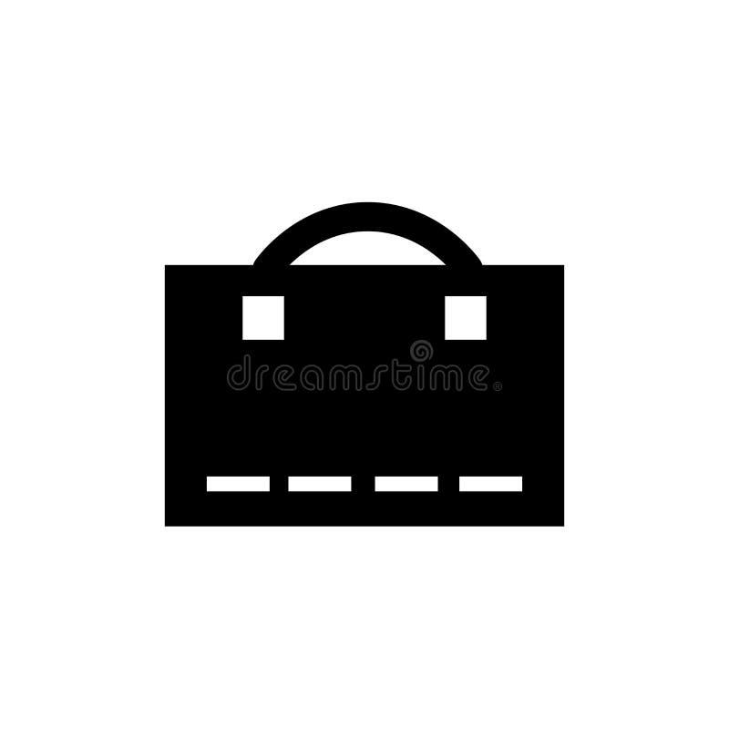 Знак и символ вектора значка багажа изолированные на белой предпосылке, концепции логотипа багажа бесплатная иллюстрация