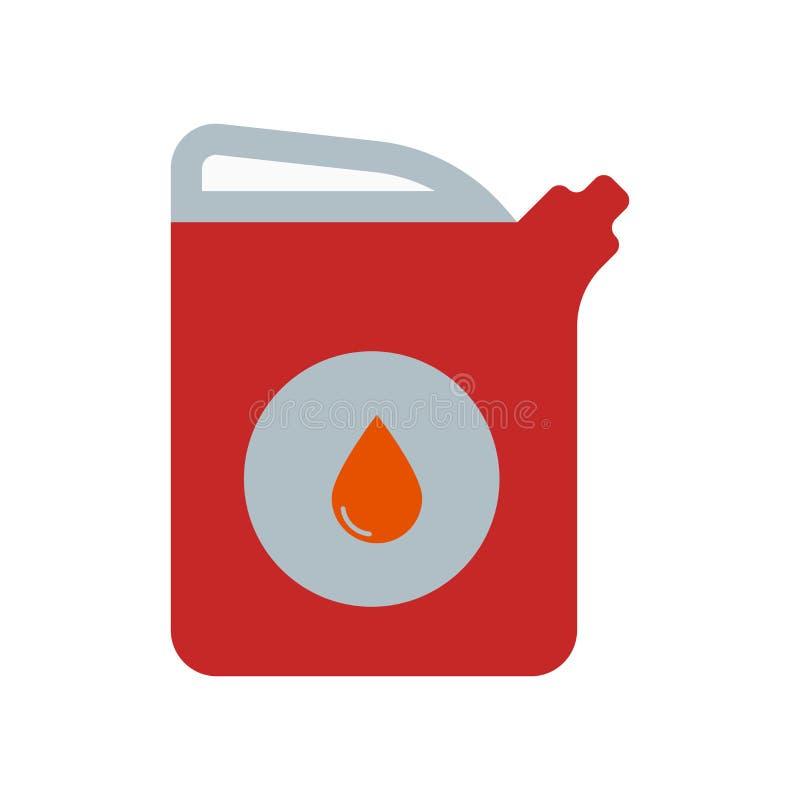 Знак и символ вектора значка бензина изолированные на белом backgroun иллюстрация штока