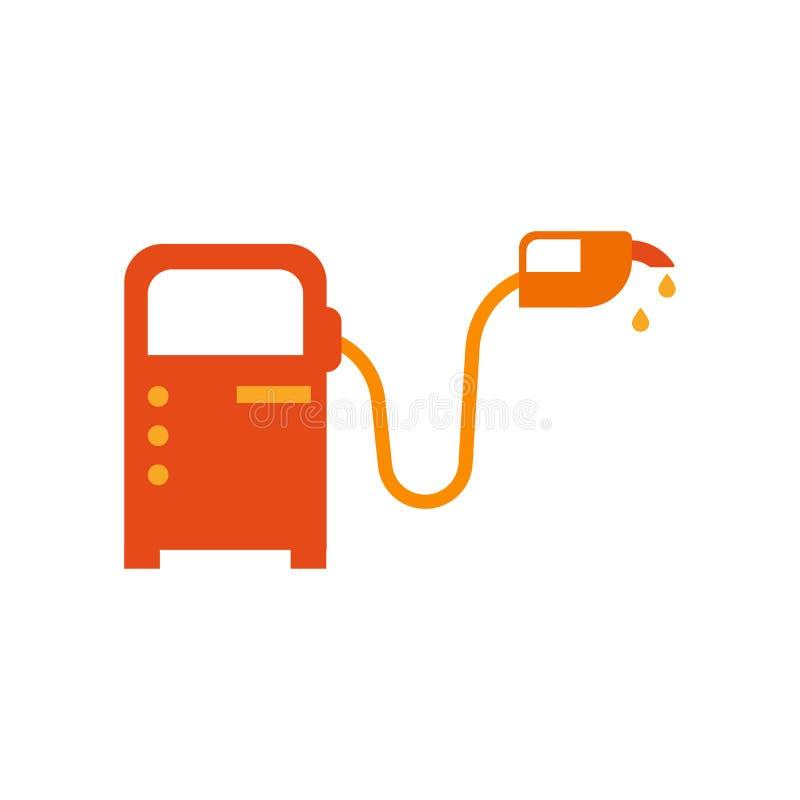 Знак и символ вектора значка бензиновой колонки изолированные на белой задней части иллюстрация штока