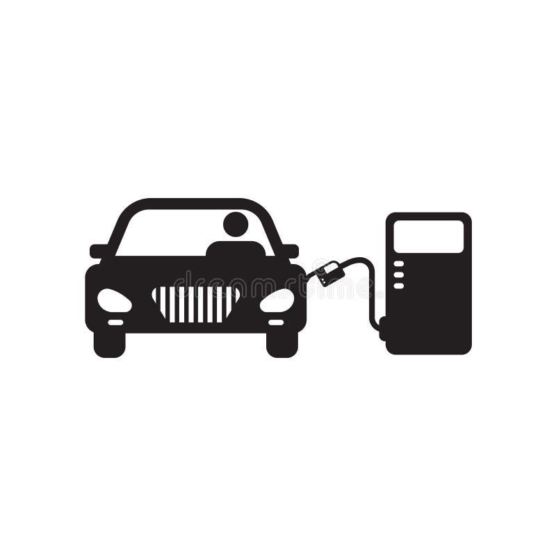 Знак и символ вектора значка бензоколонки изолированные на белой предпосылке, концепции логотипа бензоколонки бесплатная иллюстрация