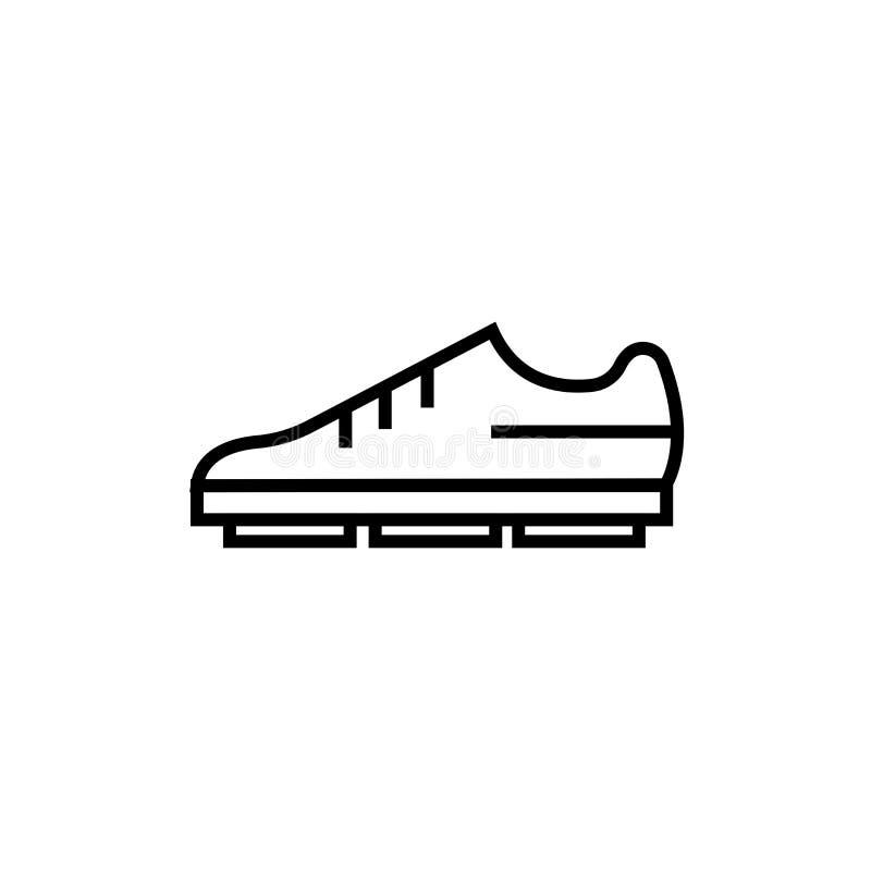 Знак и символ вектора значка ботинка американского футбола черный изолированные на белой предпосылке, концепции логотипа ботинка  бесплатная иллюстрация