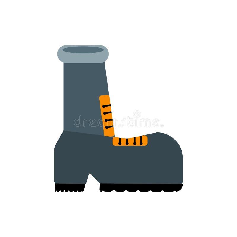 Знак и символ вектора значка ботинка изолированные на белой предпосылке, концепции логотипа ботинка бесплатная иллюстрация