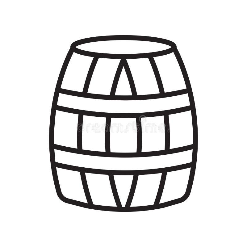 Знак и символ вектора значка бочонка изолированные на белой предпосылке бесплатная иллюстрация
