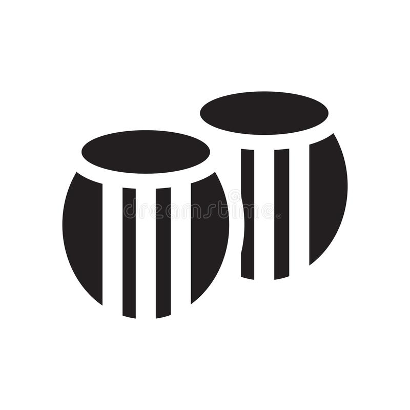Знак и символ вектора значка бочонка изолированные на белой предпосылке, концепции логотипа бочонка бесплатная иллюстрация