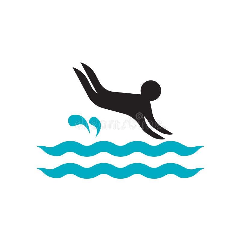 Знак и символ вектора значка водителя изолированные на белой предпосылке, концепции логотипа водителя бесплатная иллюстрация