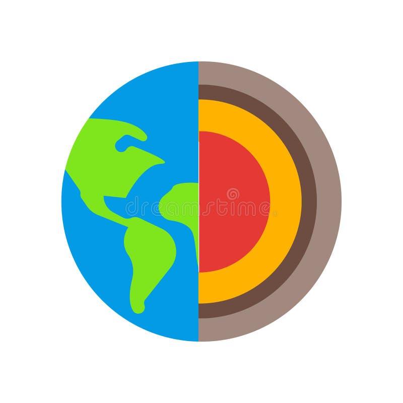 Знак и символ вектора значка геологии изолированные на белой предпосылке бесплатная иллюстрация
