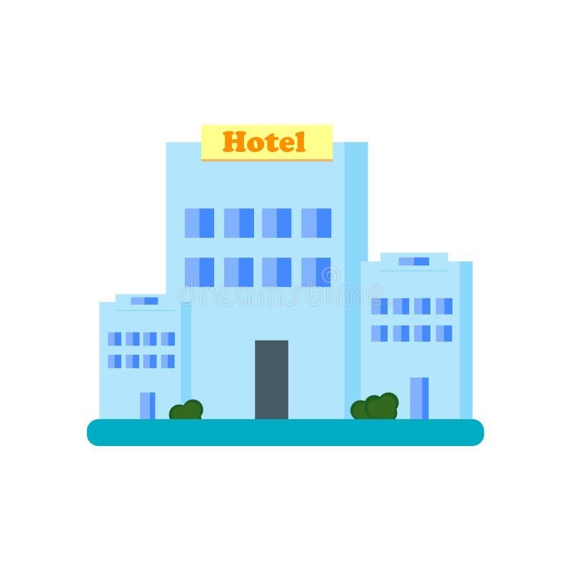 Знак и символ вектора значка гостиниц изолированные на белой предпосылке бесплатная иллюстрация