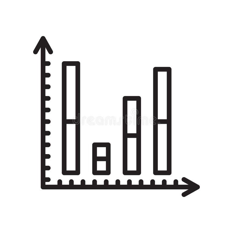 Знак и символ вектора значка диаграммы в виде вертикальных полос изолированные на белом backgrou иллюстрация вектора