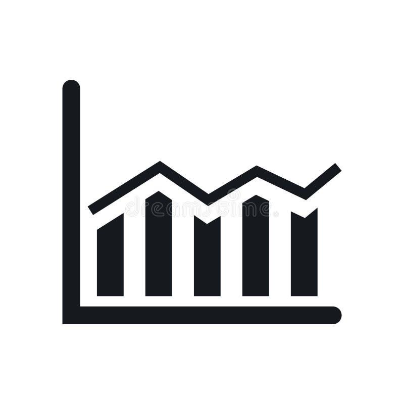 Знак и символ вектора значка диаграммы в виде вертикальных полос изолированные на белой предпосылке, концепции логотипа диаграммы бесплатная иллюстрация