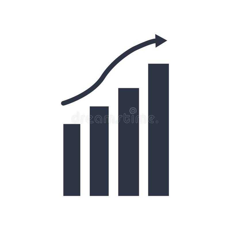 Знак и символ вектора значка диаграммы изолированные на белой предпосылке, концепции логотипа диаграммы иллюстрация вектора