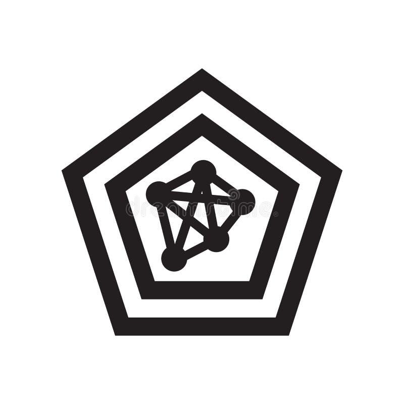 Знак и символ вектора значка диаграммы паука изолированные на белом backg бесплатная иллюстрация
