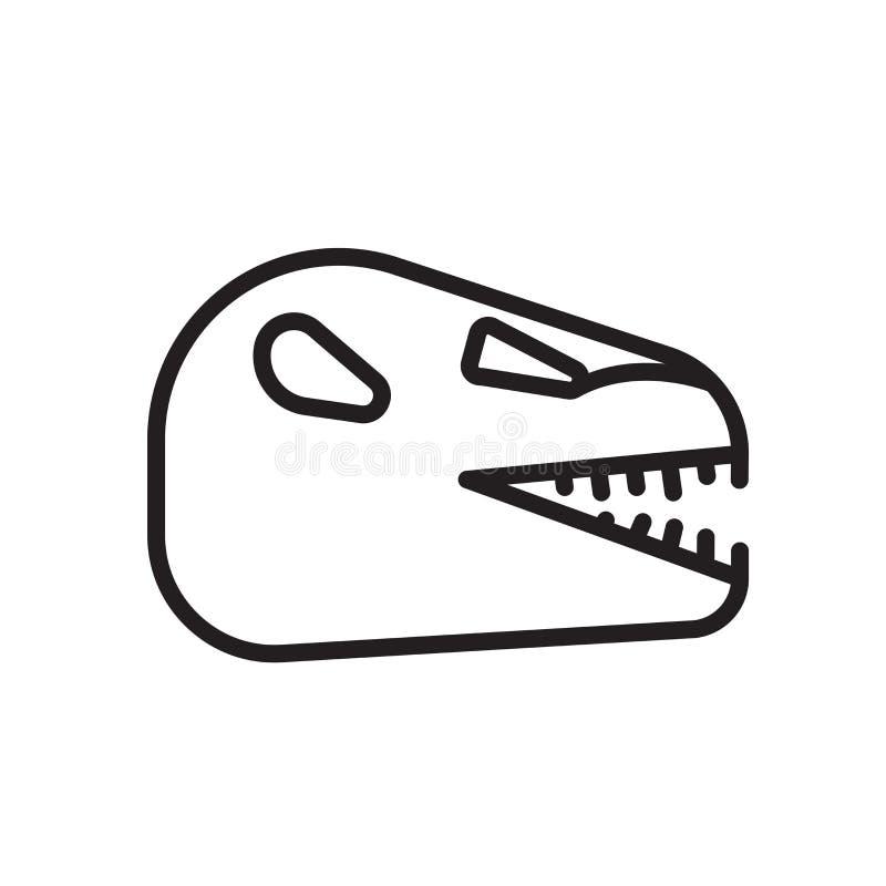Знак и символ вектора значка динозавра изолированные на белом backgroun бесплатная иллюстрация