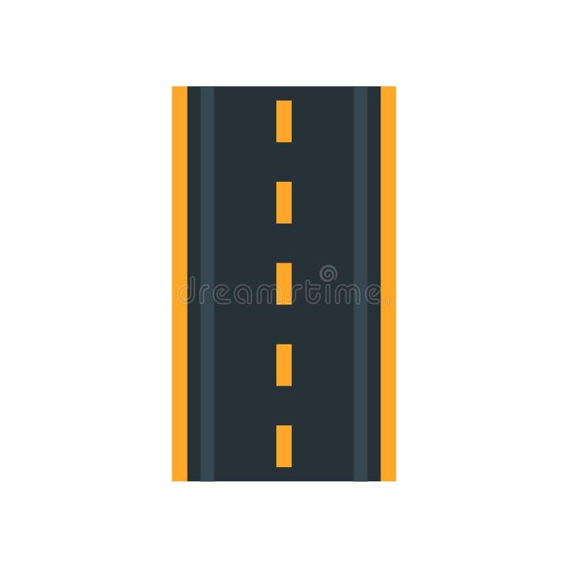 Знак и символ вектора значка дороги изолированные на белой предпосылке, концепции логотипа дороги бесплатная иллюстрация