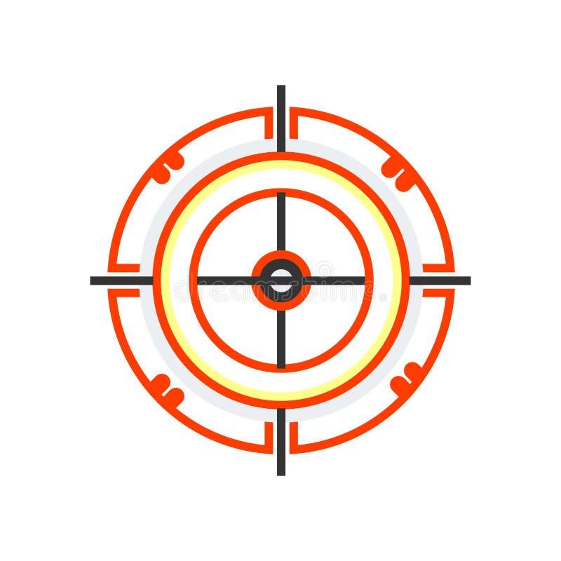 Знак и символ вектора значка доски дротика изолированные на белом backgro иллюстрация вектора