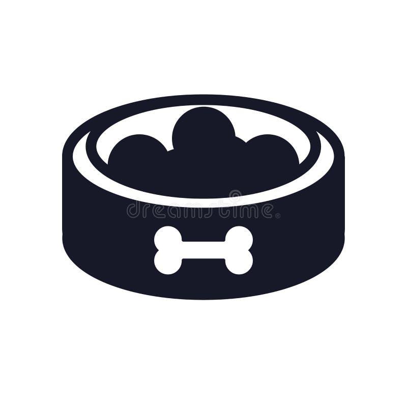 Знак и символ вектора значка еды изолированные на белой предпосылке, концепции логотипа еды стоковая фотография rf