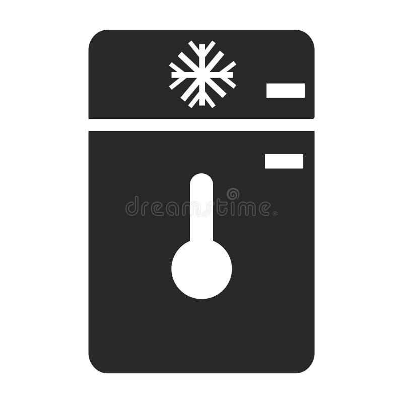 Знак и символ вектора значка замораживателя изолированные на белой предпосылке, концепции логотипа замораживателя иллюстрация штока