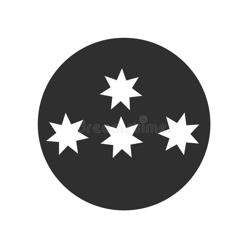 Знак и символ вектора значка звезд изолированные на белой предпосылке, концепции логотипа звезд стоковые фото