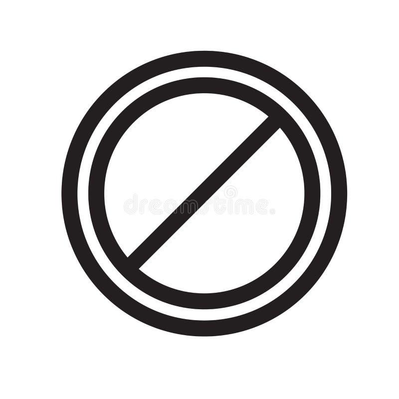 Знак и символ вектора значка знака запрета изолированные на белом b бесплатная иллюстрация