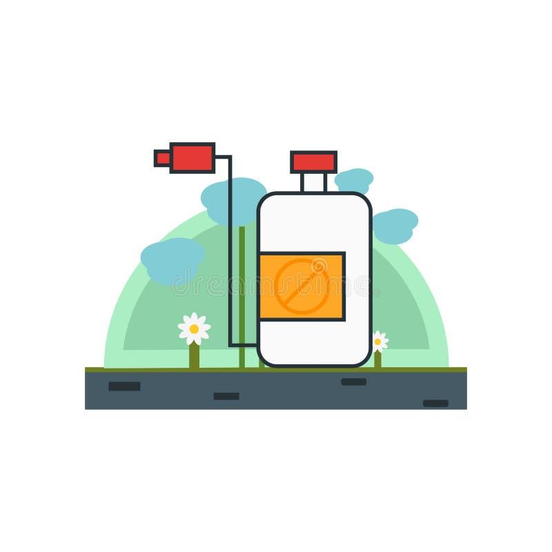 Знак и символ вектора значка инсектицида изолированные на белой предпосылке, концепции логотипа инсектицида бесплатная иллюстрация