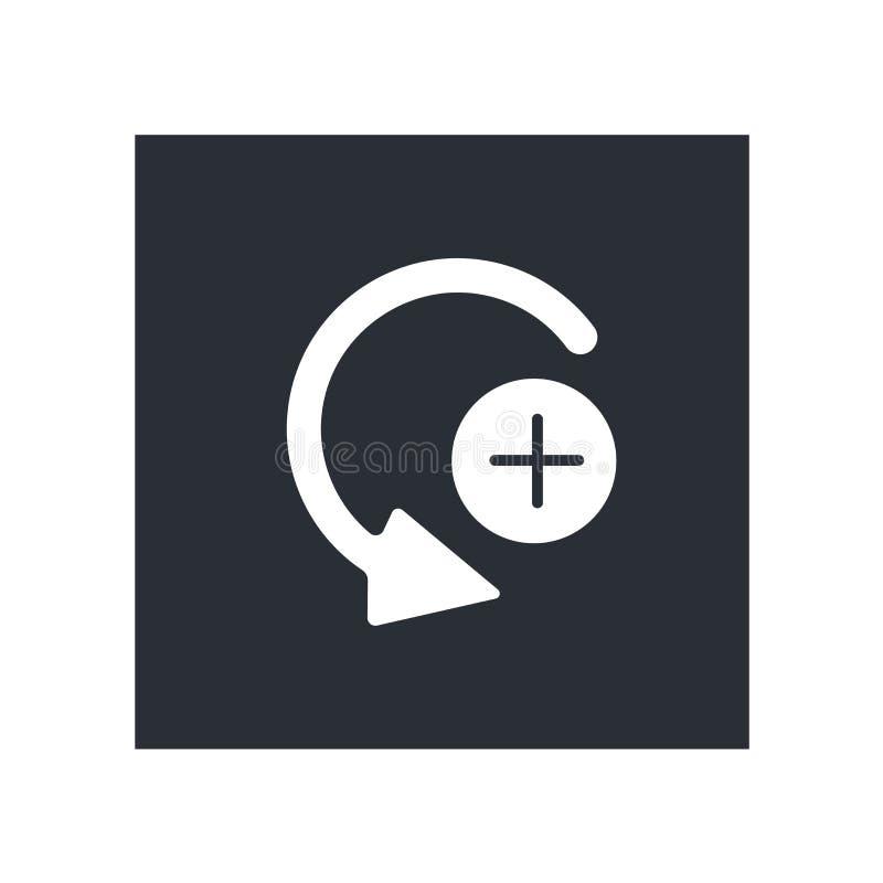 Знак и символ вектора значка клавиши правой стрелки кривой изолированные на белой предпосылке, концепции логотипа клавиши правой  иллюстрация вектора