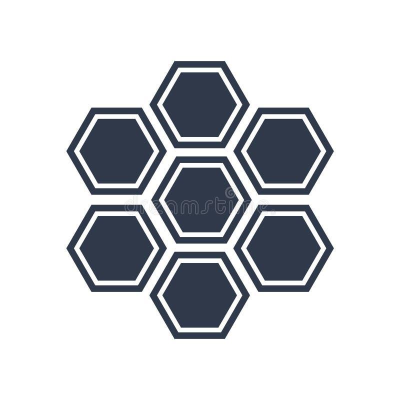 Знак и символ вектора значка клеток силы Eco изолированные на белом ба бесплатная иллюстрация