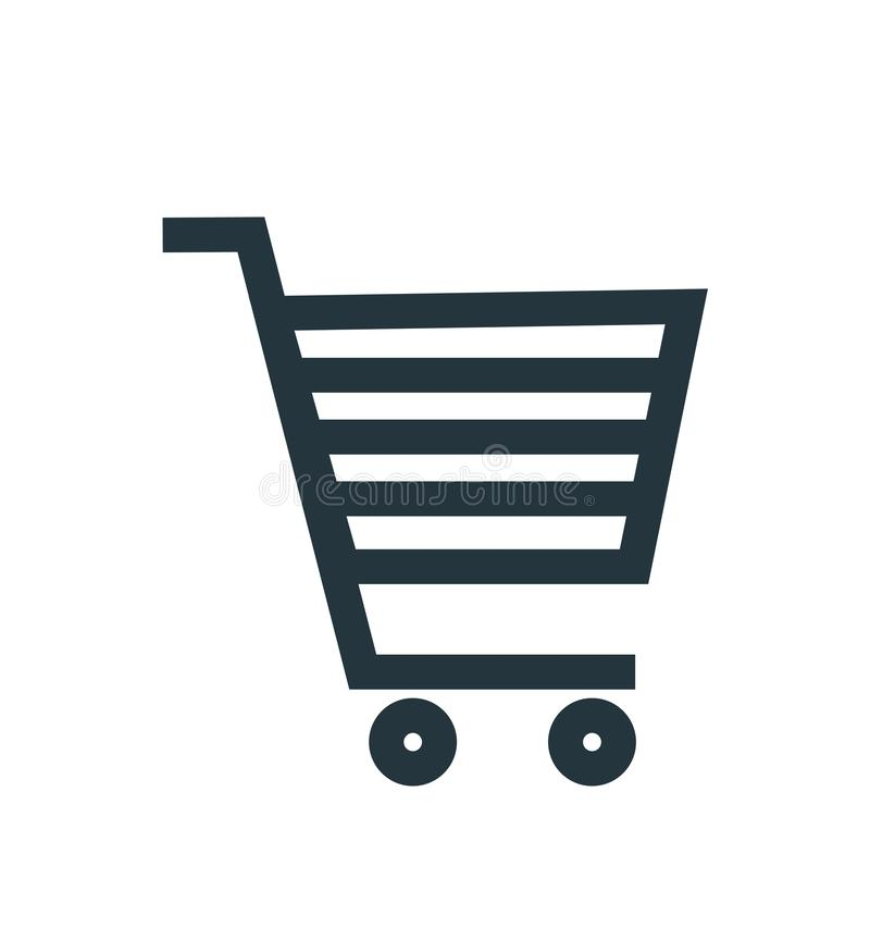 Знак и символ вектора значка корзины изолированные на белой предпосылке, концепции логотипа корзины иллюстрация вектора