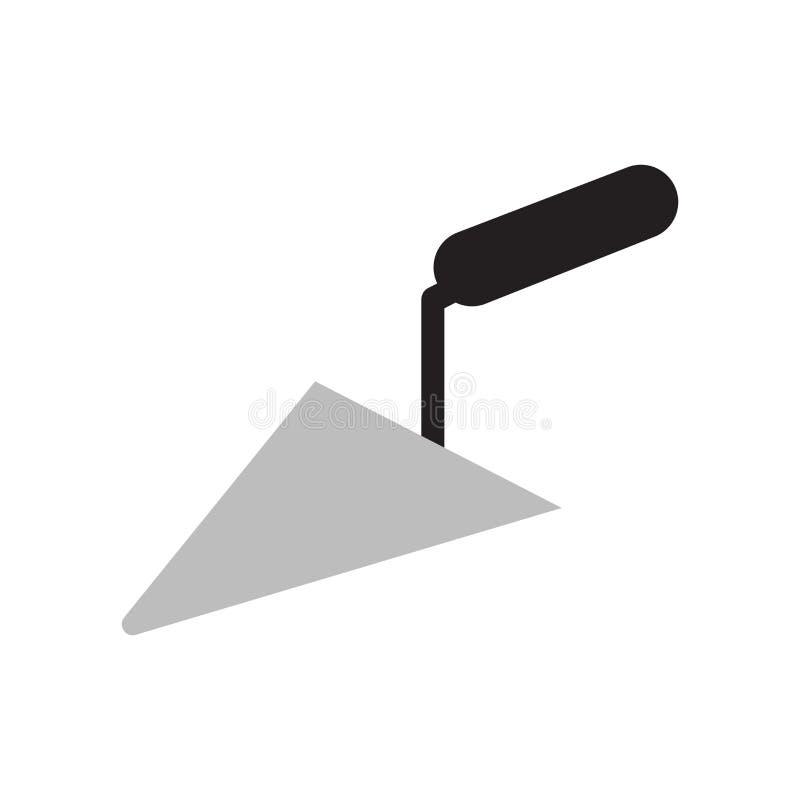 Знак и символ вектора значка лопаткы изолированные на белой предпосылке, концепции логотипа лопаткы бесплатная иллюстрация