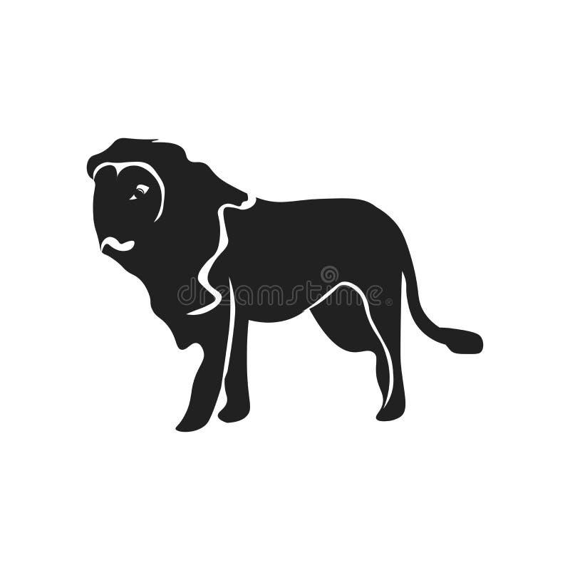 Знак и символ вектора значка льва изолированные на белой предпосылке, концепции логотипа льва бесплатная иллюстрация