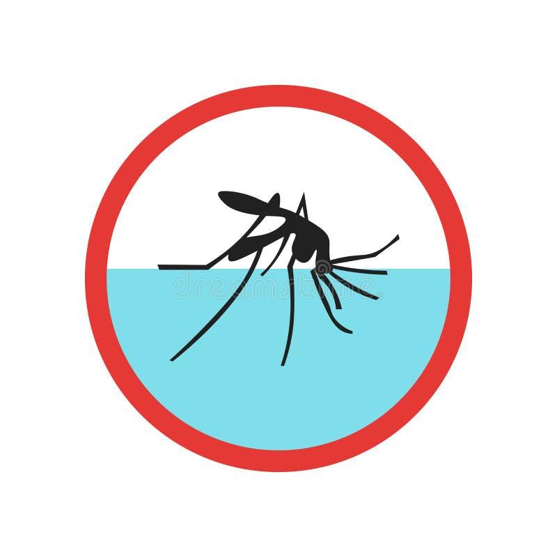 Знак и символ вектора значка малярии изолированные на белой предпосылке, концепции логотипа малярии иллюстрация вектора