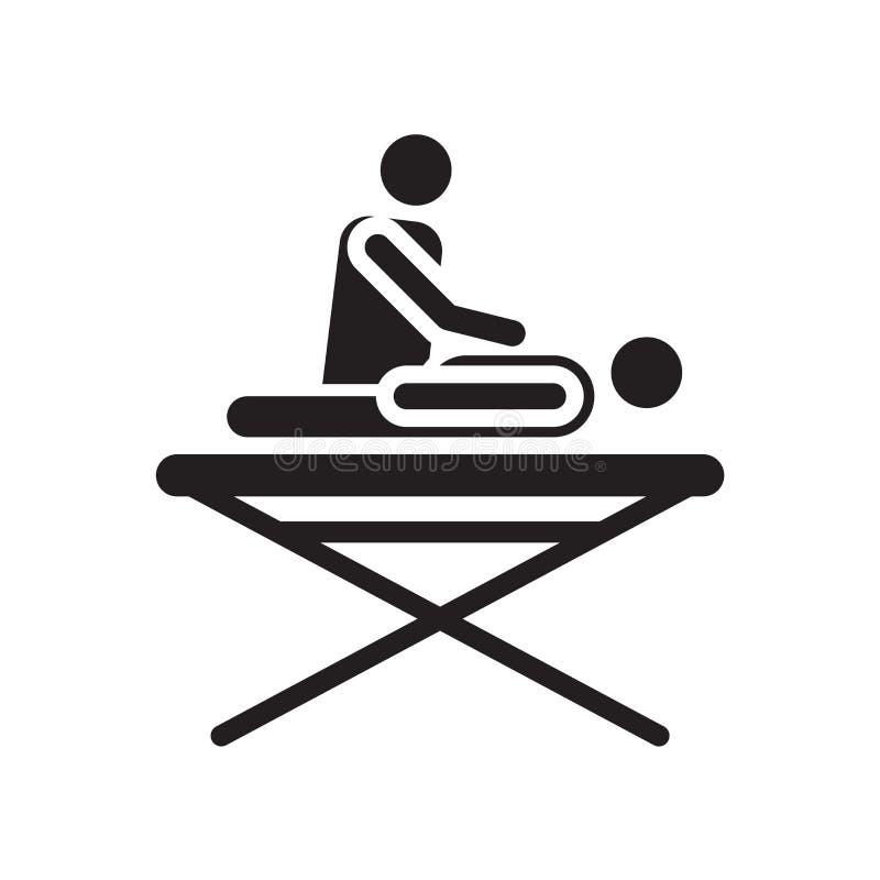 Знак и символ вектора значка массажа изолированные на белой предпосылке, концепции логотипа массажа бесплатная иллюстрация