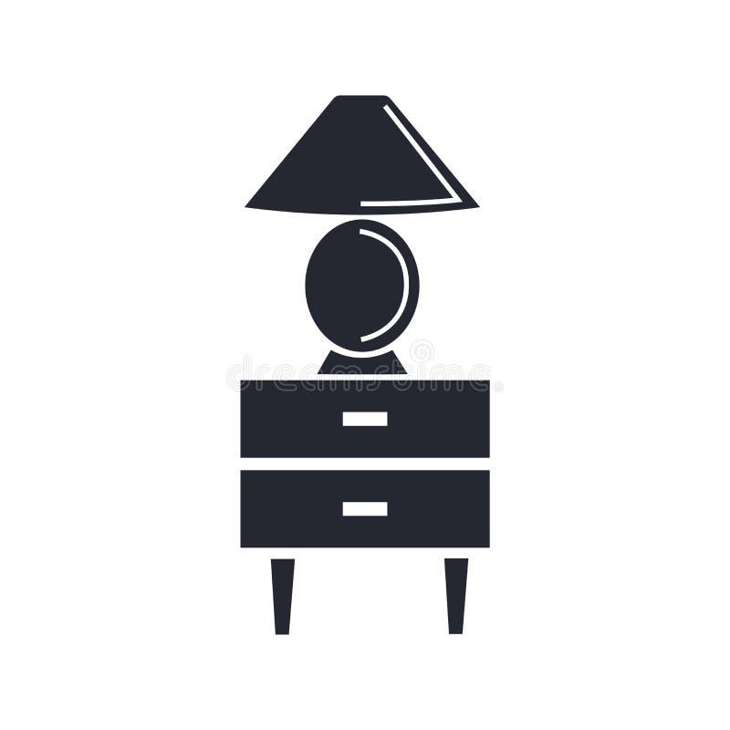 Знак и символ вектора значка мебели изолированные на белом backgrou иллюстрация штока