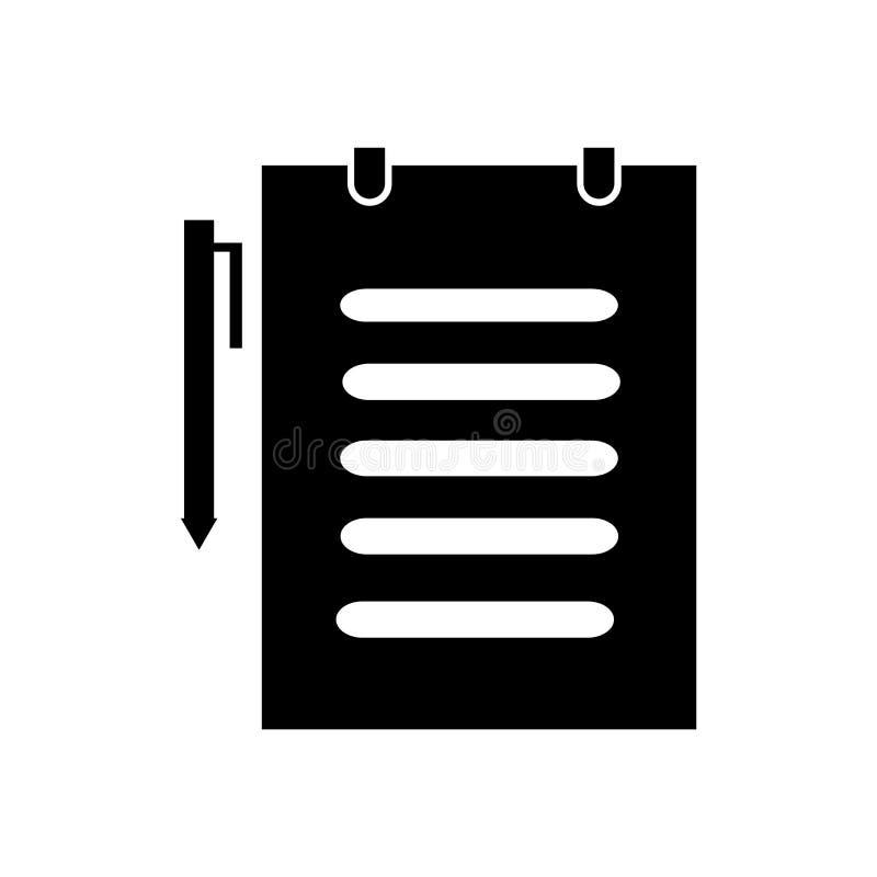 Знак и символ вектора значка медицинского заключения изолированные на белой предпосылке, концепции логотипа медицинского заключен иллюстрация вектора