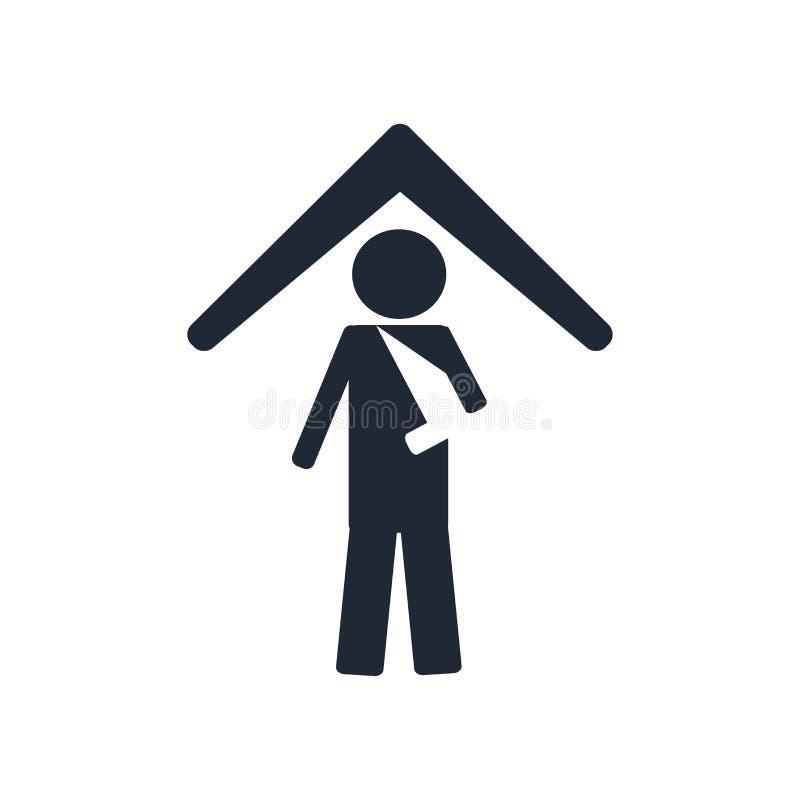 Знак и символ вектора значка медицинской страховки изолированные на белом b иллюстрация вектора