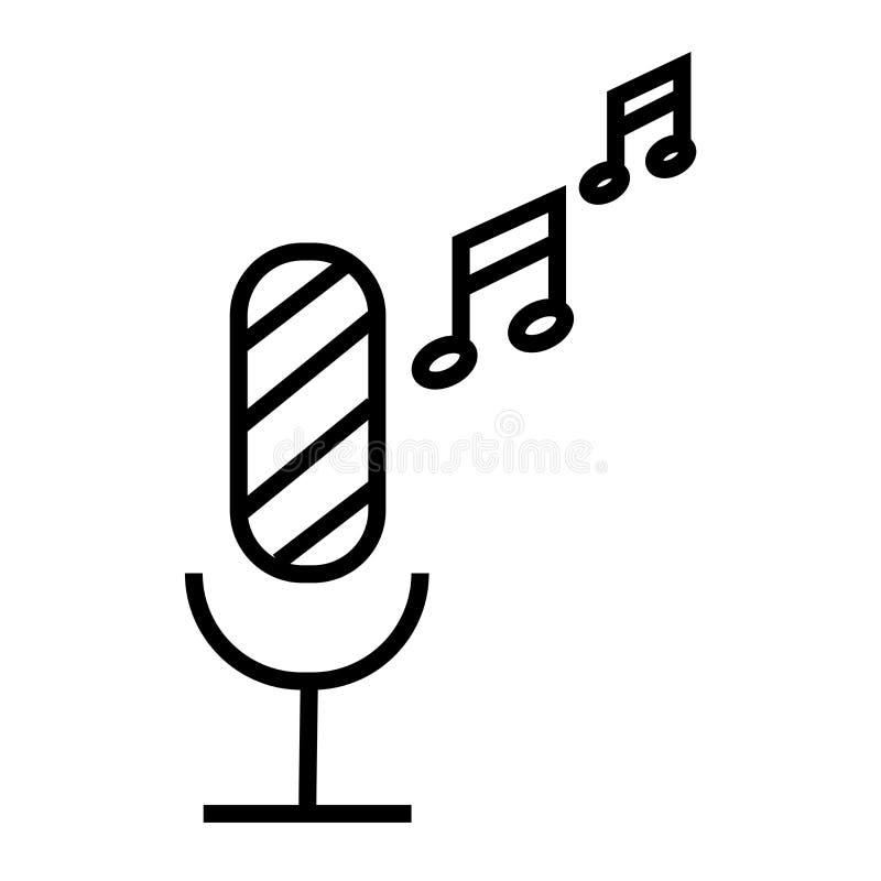 Знак и символ вектора значка микрофона радио изолированные на белой предпосылке, концепции логотипа микрофона радио бесплатная иллюстрация