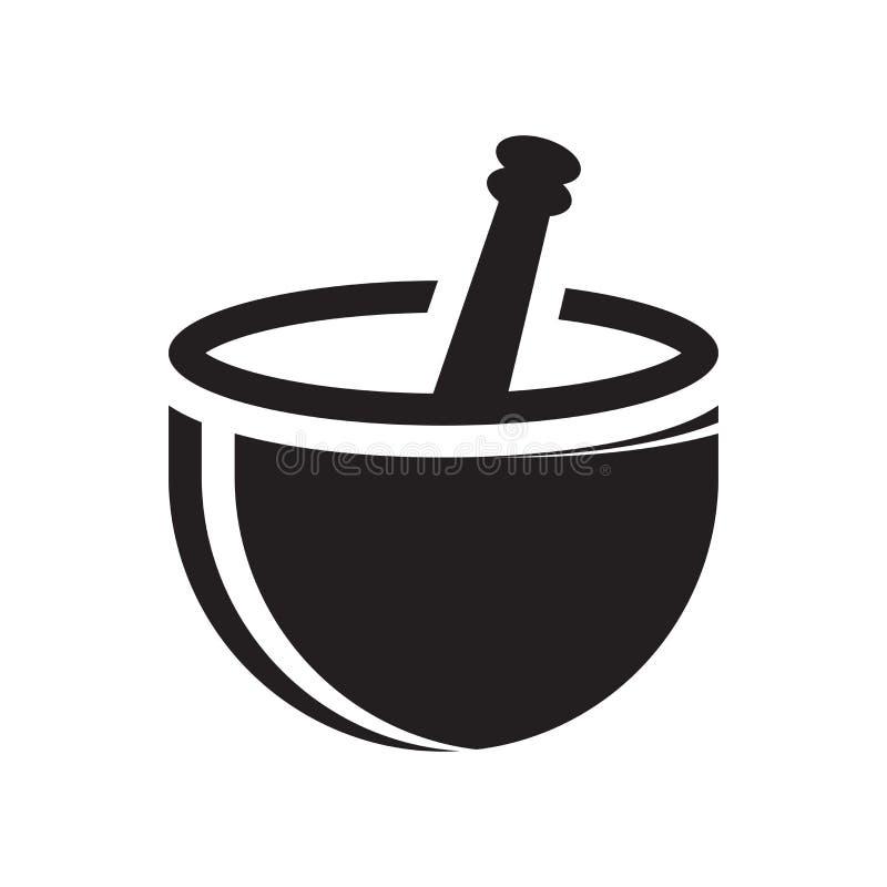 Знак и символ вектора значка миномета изолированные на белой предпосылке бесплатная иллюстрация