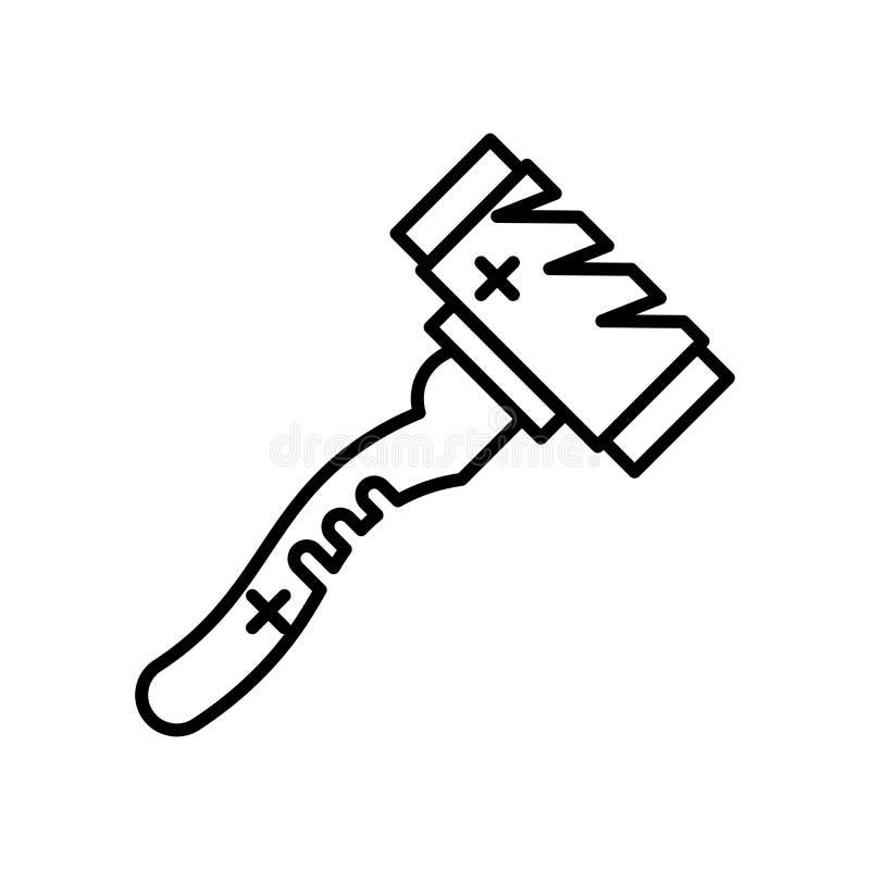 Знак и символ вектора значка мушкела изолированные на белой предпосылке, концепции логотипа мушкела иллюстрация вектора