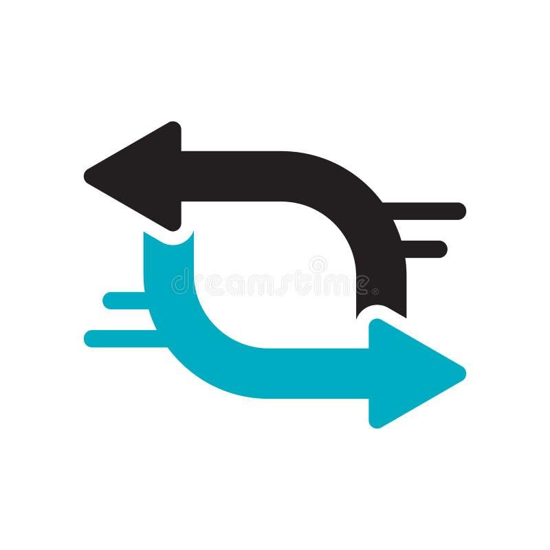 Знак и символ вектора значка обменом изолированные на белой предпосылке, концепции логотипа обменом иллюстрация штока
