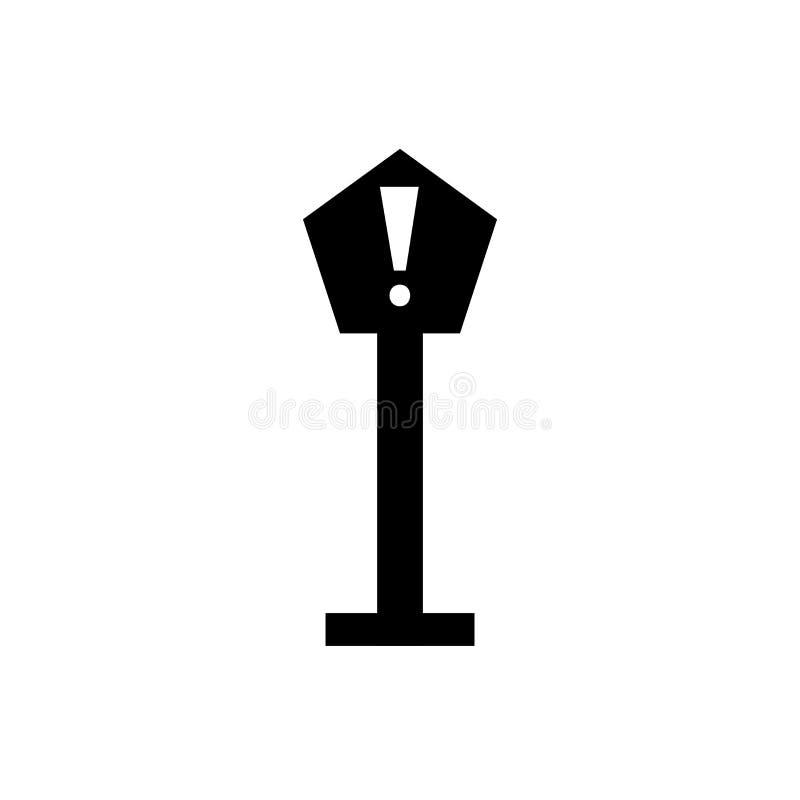 Знак и символ вектора значка опасности изолированные на белой предпосылке, концепции логотипа опасности бесплатная иллюстрация
