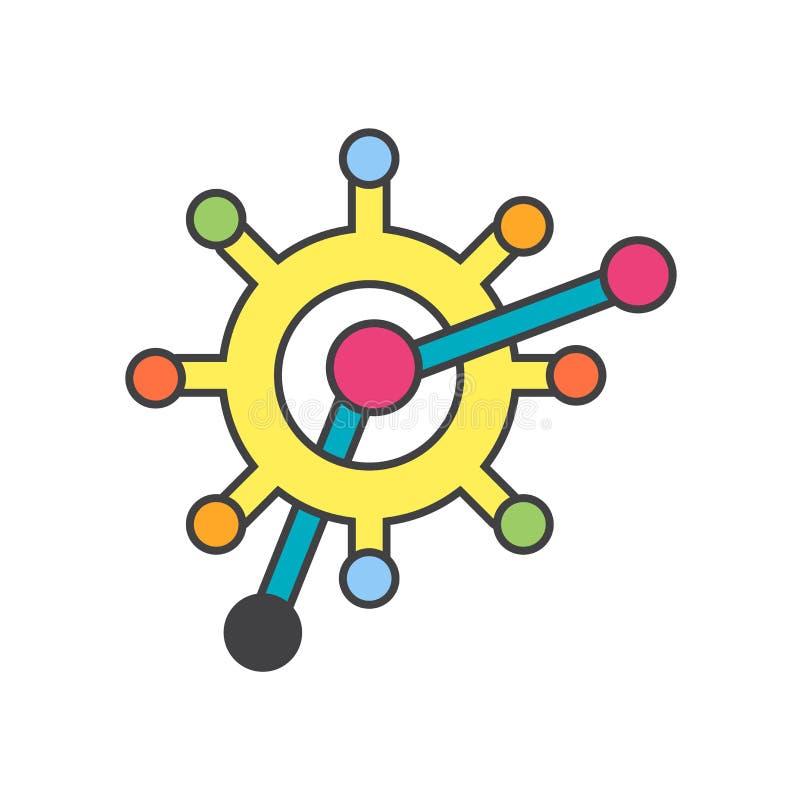 Знак и символ вектора значка организма изолированные на белой предпосылке, концепции логотипа организма иллюстрация вектора