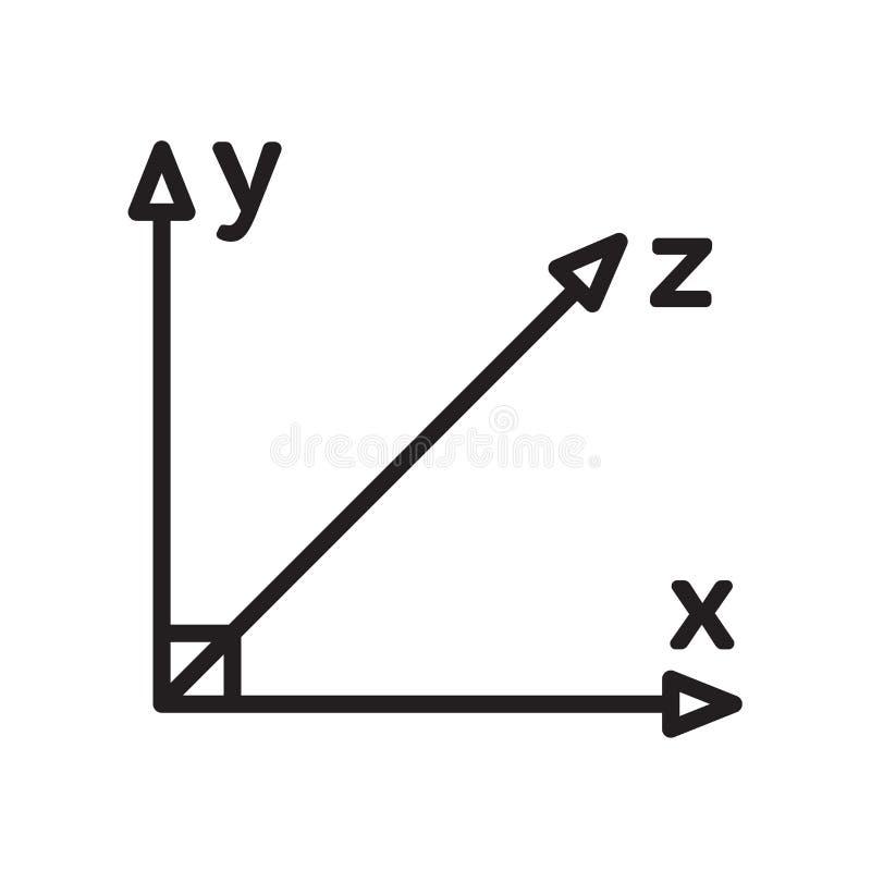 Знак и символ вектора значка оси изолированные на белой предпосылке, a иллюстрация вектора