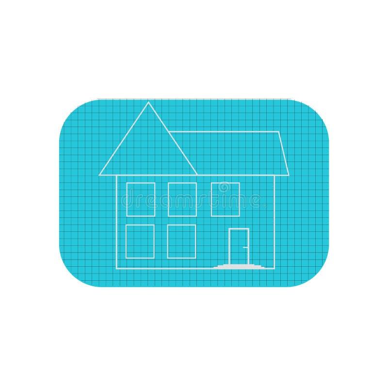 Знак и символ вектора значка плана дома изолированные на белом backgro иллюстрация вектора
