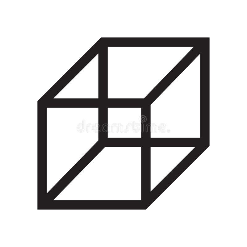 Знак и символ вектора значка плана куба изолированные на белой предпосылке, концепции логотипа плана куба бесплатная иллюстрация