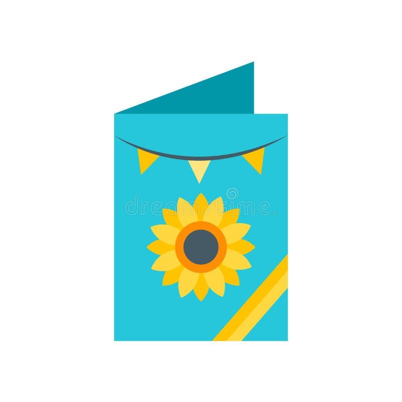 Знак и символ вектора значка поздравительной открытки изолированные на белой предпосылке, концепции логотипа поздравительной откр иллюстрация вектора
