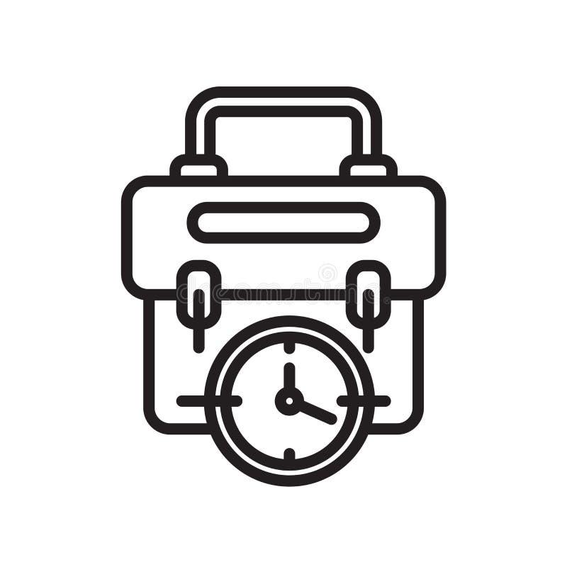 Знак и символ вектора значка портфолио изолированные на белой предпосылке, концепции логотипа портфолио иллюстрация вектора