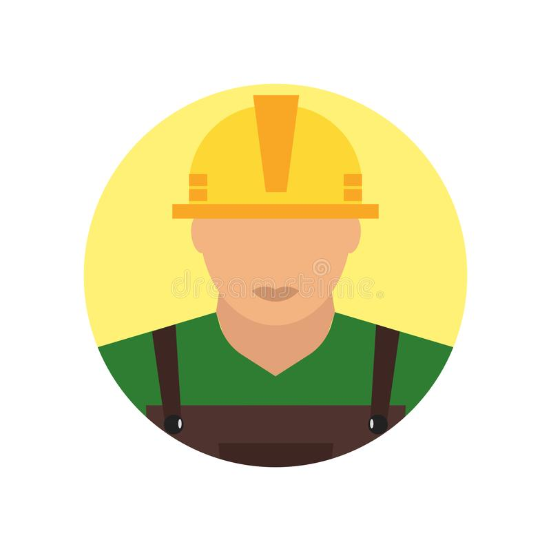Знак и символ вектора значка построителя изолированные на белой предпосылке, концепции логотипа построителя иллюстрация вектора