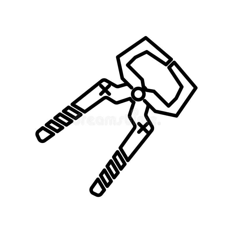 Знак и символ вектора значка резца провода изолированные на белой предпосылке, концепции логотипа резца провода иллюстрация штока